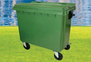 ถังขยะกทม. พร้อมล้อเข็น 660 ลิตรไม่มีหูยก